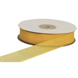 NASTRO ORGANZA MT.50 X 20MM YELLOW