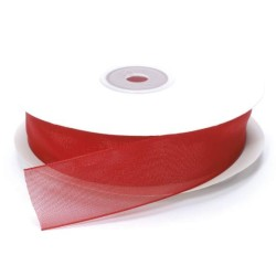 NASTRO ORGANZA MT.50 X 20MM RED
