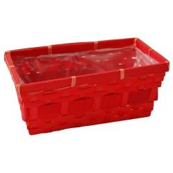 Vasch. Rett. 25x12,5 H10,5 Rosso Gloria