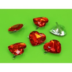 BUSTA 6PZ HEART DIAMOND RED MM20X30