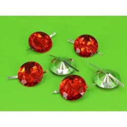BUSTA 6PZ CIRCLE DIAMOND RED MM20X30