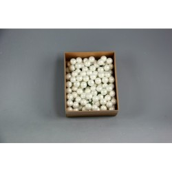 BOX 144 PICK SFERE VETRO MM.20 WHITE