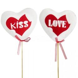 PICK CUORE BIANCO KISS LOVE CM.11,5 PZ.2
