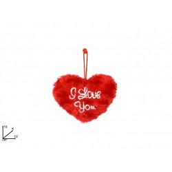 CUORE ROSSO LOVE PELUCHE 12CM