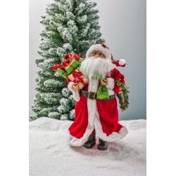 Babbo Natale Con Sacco E Coroncina Cm.40