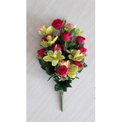 MAZZO FRONTALE ROSE/ORCHIDEE - RED