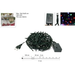 MINILUCCIOLE 300LED MULTICOLOR PER INTERNO