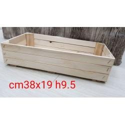 °°°CASSETTA IN LEGNO NATURALE CM38X19 H9,5
