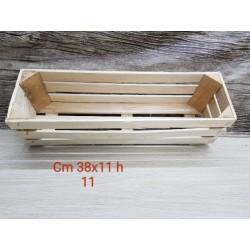 °°°CASSETTA IN LEGNO NATURALE CM38X11 H11