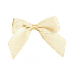 COCCARDE SATIN BOW CM6 CREAM 24PZ