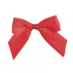 COCCARDE SATIN BOW CM6 RED 24PZ