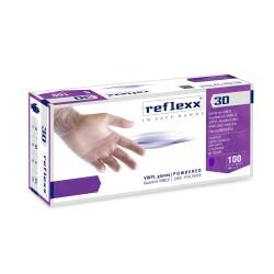 GUANTI VINILE  REFLEXX 30 BOX 100PZ MIS. M