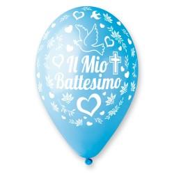 PALLONCINO 12GS110 IL MIO BATTESIMO CELESTI 100PZ
