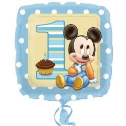 PALLONCINO 18 MYLAR BABY MICKEY 1° BIRTHDAY